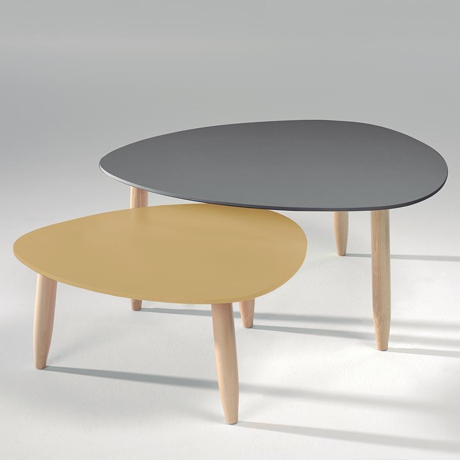 Salon Avec Table Basse Scandinave Boutique Gain De Placefr
