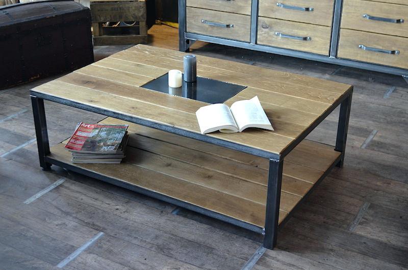 Conforama Industriel Basse De Style Table Gain Boutique BtrdohCxsQ
