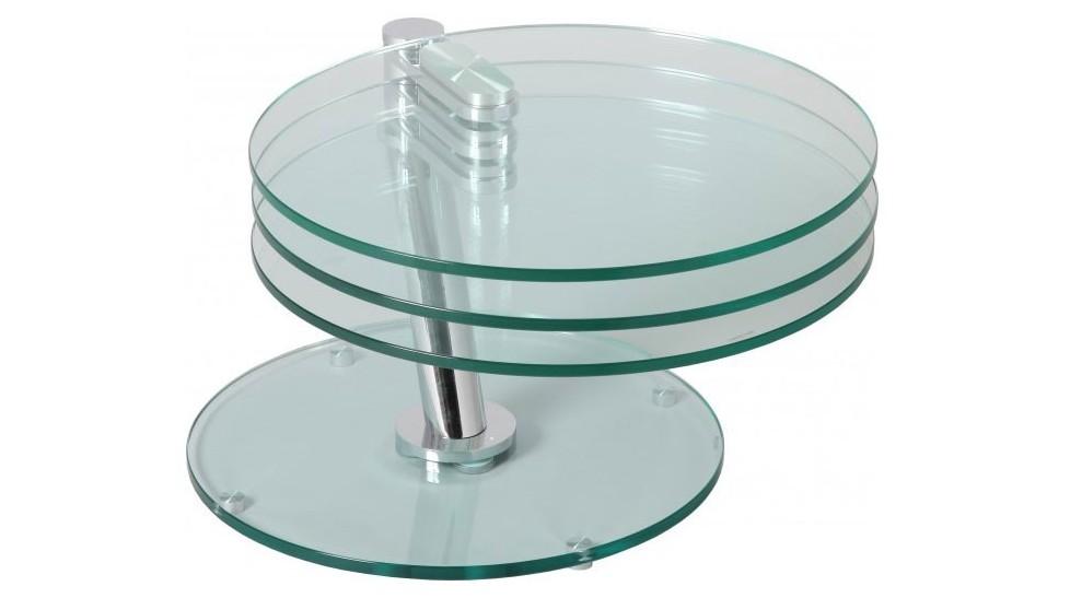 Table Basse Design Verre Ronde Boutique Gain De Place Fr