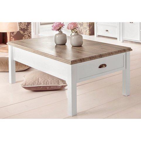 Table Basse Rectangulaire Blanc Bois Boutique Gain De Place Fr