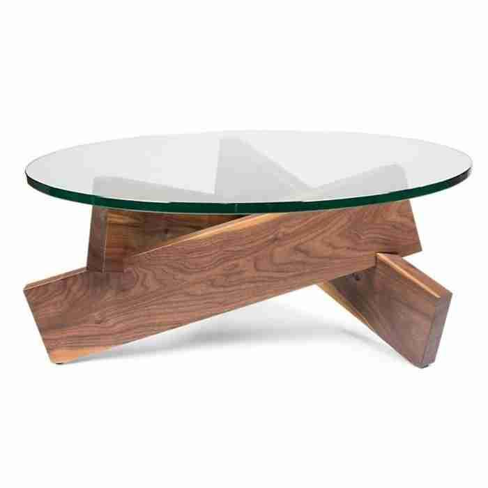 Pied De Table Basse Bois Design Boutique Gain De Place Fr