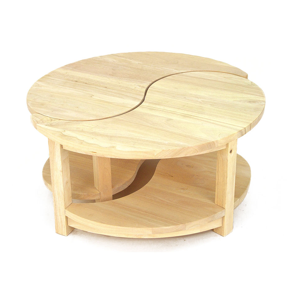 Table Basse Ronde En Bois Massif Boutique Gain De Place Fr
