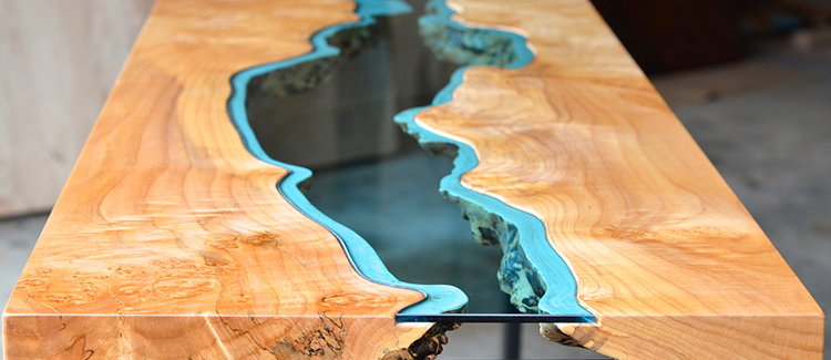 Table basse bois riviere