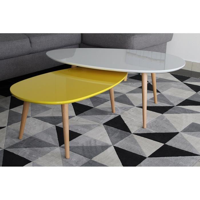 table basse gigogne jaune boutique gain de. Black Bedroom Furniture Sets. Home Design Ideas