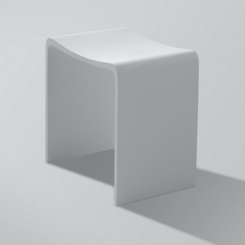 Superieur Tabouret Blanc Salle De Bain