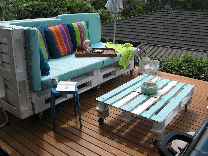 Table basse palette salon de jardin - Boutique-gain-de-place.fr